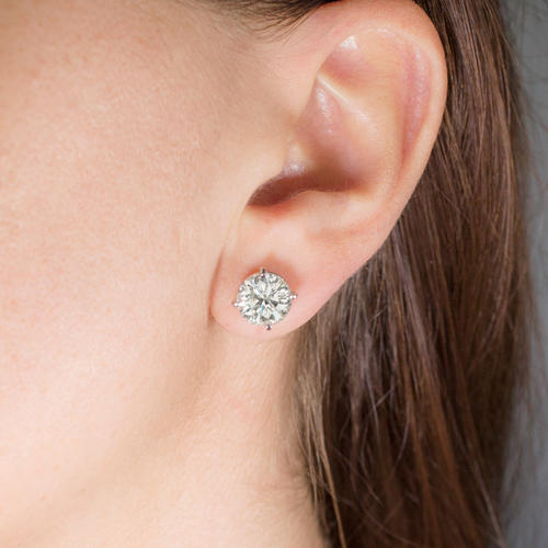 1a83fa9a8 5.74ct 9mm EXCELLENT CUT NATURAL DIAMOND EARRINGS STUDS 5 6 CT CARAT ROUND  IDEAL - Ivy & Rose Fine Jewelry