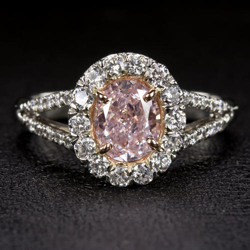 1.5CT NATURAL FANCY PINK 1CT OVAL DIAMOND GIA CERTIFIED ...