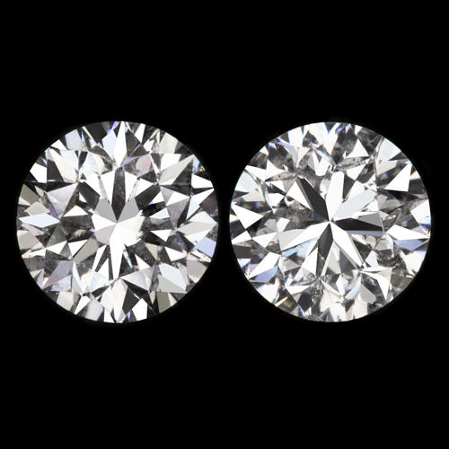 0935742a2 20190202 28 y452vx 1.08ctw F-G ROUND BRILLIANT CUT NATURAL DIAMOND STUD  EARRINGS 5.2mm 1 CARAT 1ct