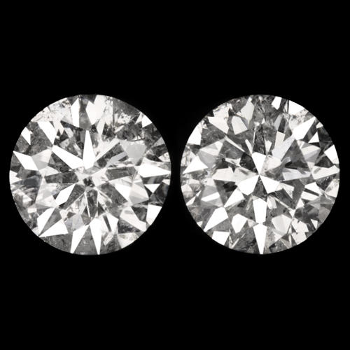 50d6a76d4 1.04ct EXCELLENT CUT F-G COLOR DIAMOND STUD EARRINGS NATURAL ROUND 1 CARAT  PAIR - Ivy & Rose Fine Jewelry