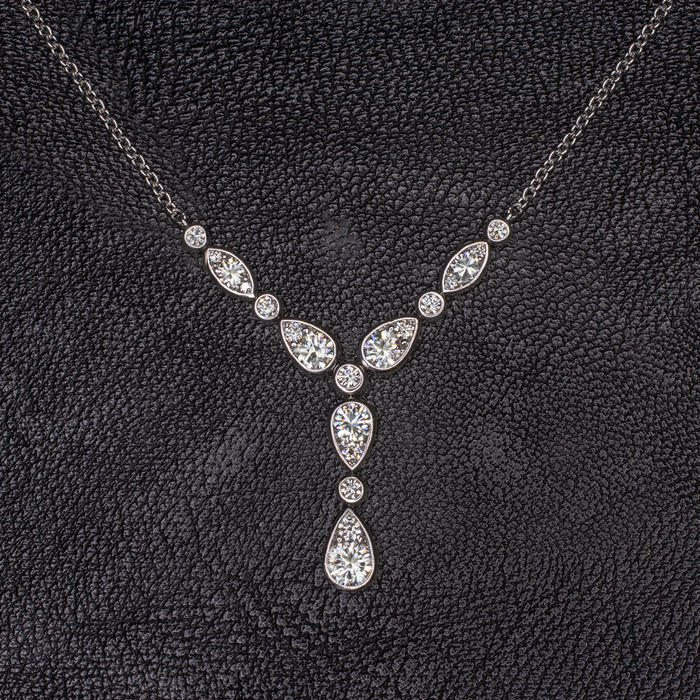 11826aa0c28b78 1.5ct G VS EXCELLENT CUT DIAMOND Y NECKLACE 18K WHITE GOLD CLASSIC ...