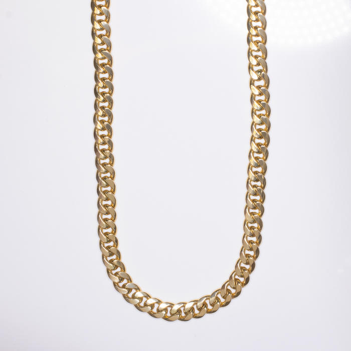 23dc99e751ba5 9mm 55 GRAM SOLID 10K YELLOW GOLD CHAIN 24 INCH MIAMI CUBAN LINK MENS  NECKLACE