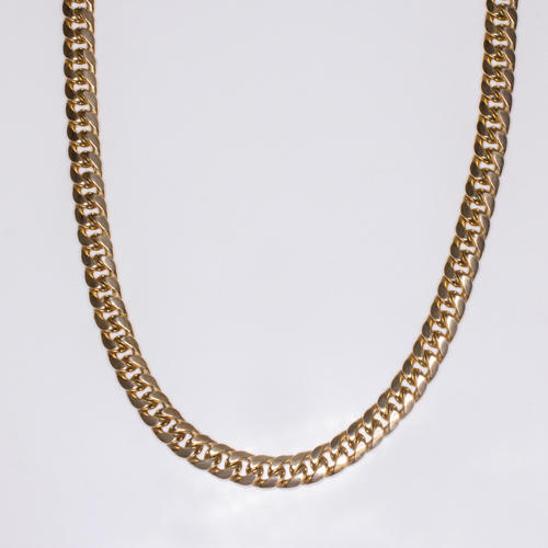 10k Gold Cuban Link Chain >> 6 8mm 31g Solid 10k Yellow Gold Chain 32in Long Miami Cuban Link